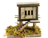Wooden Chicken Coop, Farmer's Hen House, Farm Animal Pen, Fairy Garden Accessory
