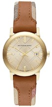 Burberry BU9133 The City Haymarket Check Leather Ladies Watch - $246.30