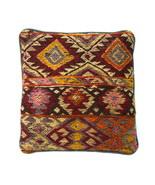 Vtg Chunky Wool Kilim Knit Southwestern Indian Style Sq Pillow Sham Cove... - $28.70