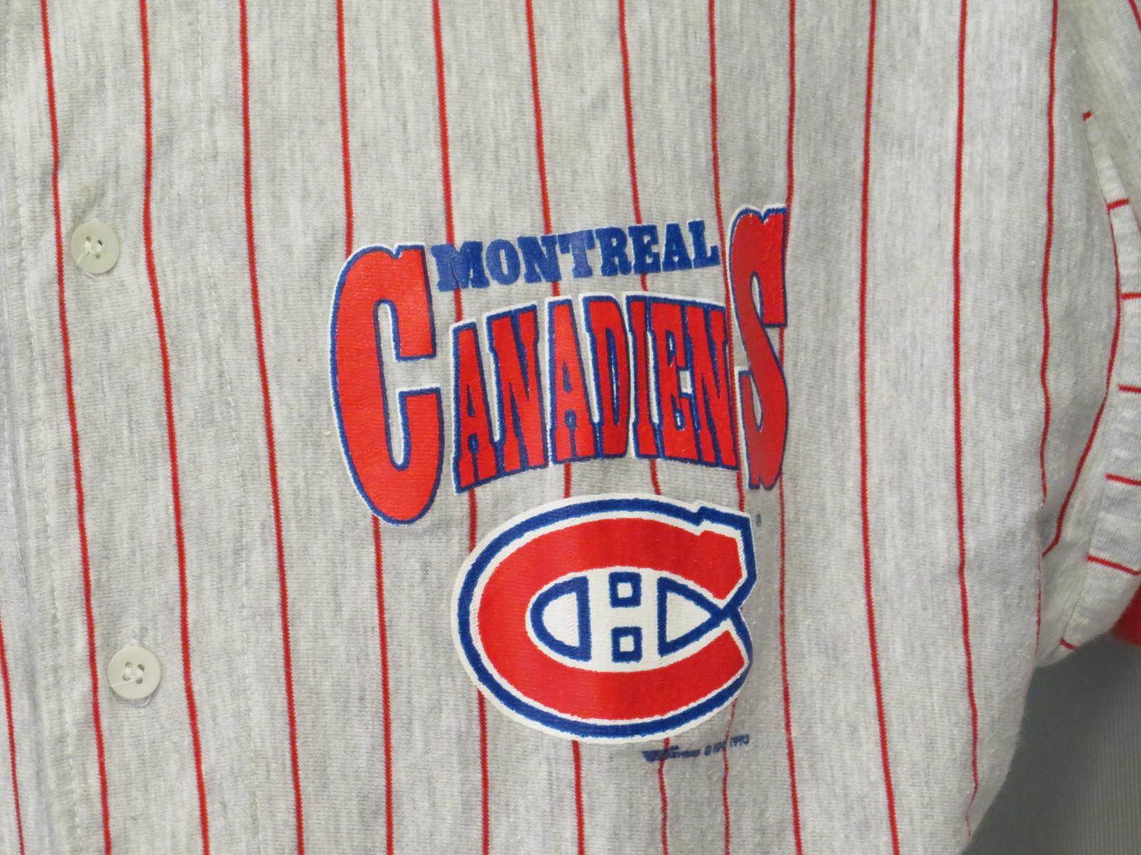 Montreal Canadiens Baseball Jersey - Pin Stripe by Ravens Knit - Men s  Medium 5ed2bed6e