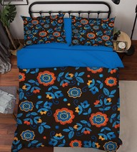 3D Blue Petals 026 Bed Pillowcases Quilt Duvet Single Queen King US Lemon - $102.84+