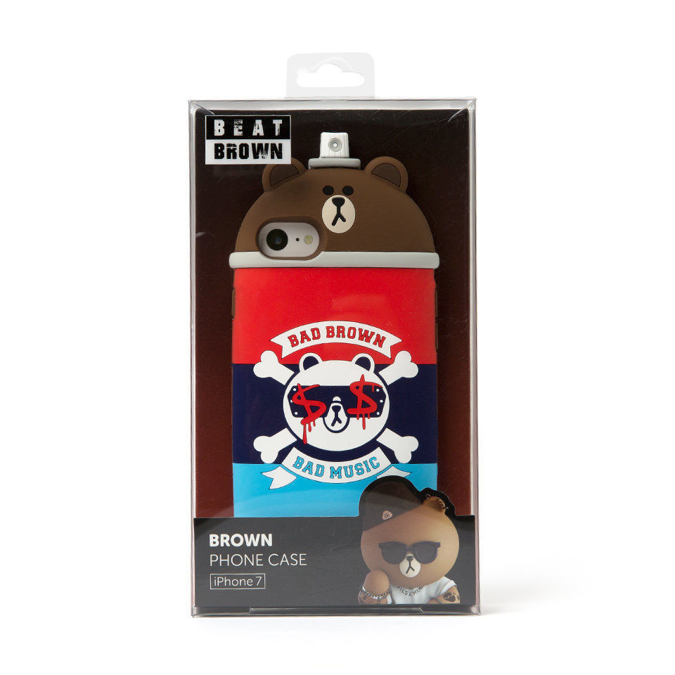 LINE Friends Spray Silicone iPhone Case 7/7 Plus Character Cover Mobile Skin Acc