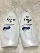 2 Dove Deep Moisture Body Wash 22 Oz each BB20 - $11.29