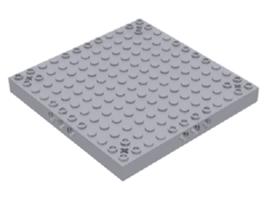 Lego 12x12 Technic Modified Brick Corner Axle Holes-Light Gray- part 52040 - $4.94