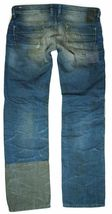 Brand New Diesel Men's Denim Regular Slim Straight Distressed Jeans Safado 0884B image 4