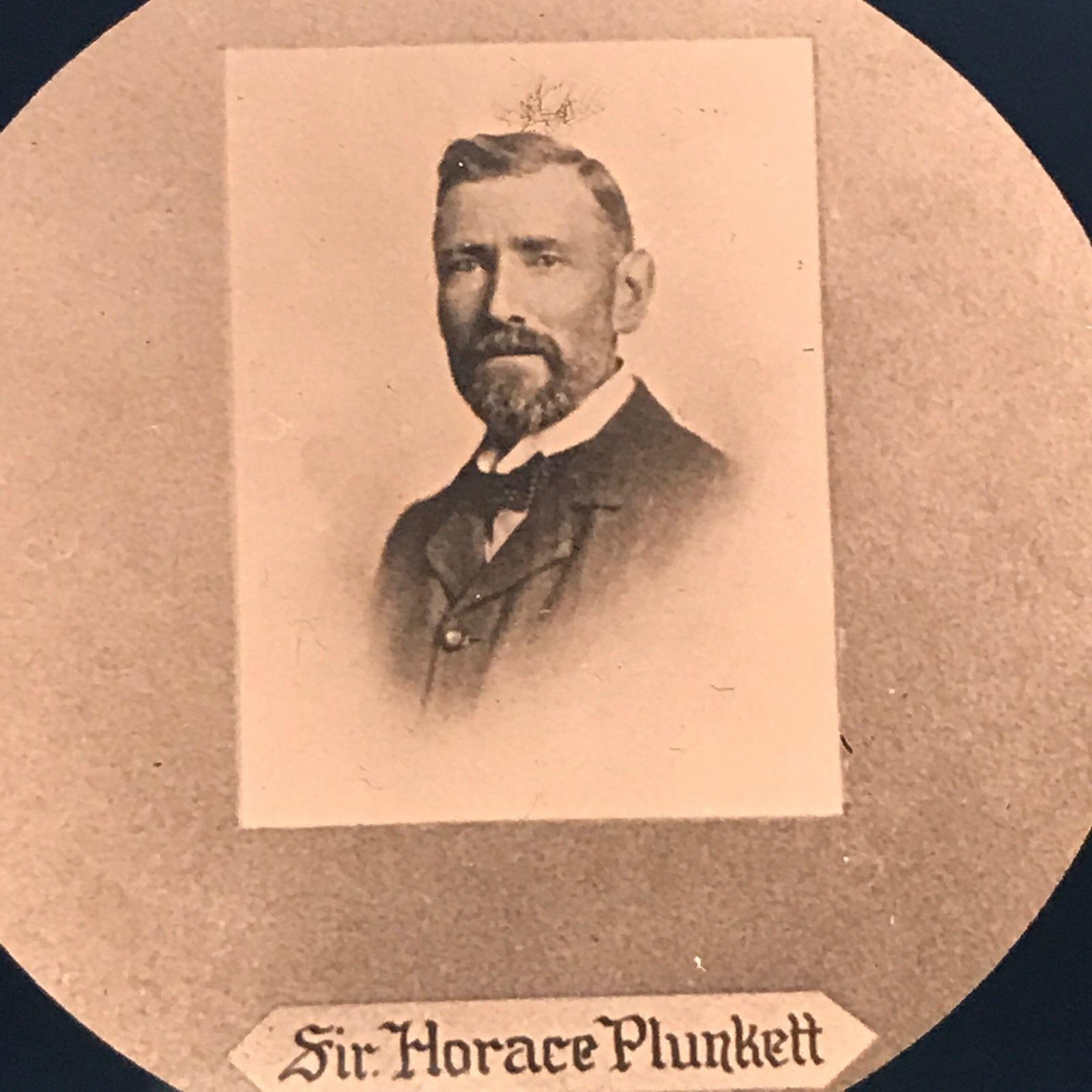 Vtg Magic Lantern Glass Slide Photo Battle Creek Sanitarium Sir Horace Plunkett