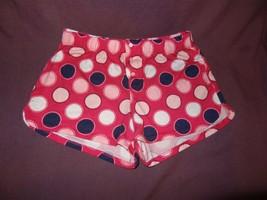 Shorts Pajama Bottoms Size 12 Justice Girls Pink Black Polka Dot - $6.48