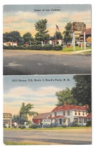 1815 House Motel Reeds Ferry NH Cabins White Mountains Vintage 1951 Post... - $6.99