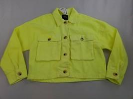 new ZARA Oversized women jean jacket 5575/001/509 yellow neon sz M $149 - $39.59