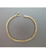 "2CTTW 14k Yellow Gold Diamond Tennis Bracelet 8.51 Grams 7"" Long S Link ... - $890.99"