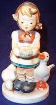 "Hummel Goebel Girl Feeding Geese ""Be Patient"" Figurine #197 2/0 TMK4 - $39.99"