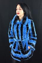 Luxury gift/ Blue/black /Mink fur coat/ Wedding,or anniversary present image 1