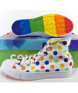 Converse Pride by Miley Cyrus Rainbow Polka Dot Chuck Taylor Sneakers 162252C - $109.95
