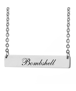 Custom Any Name Bar Necklace Christmas Mother Day Gift for Bombshell - $9.99+