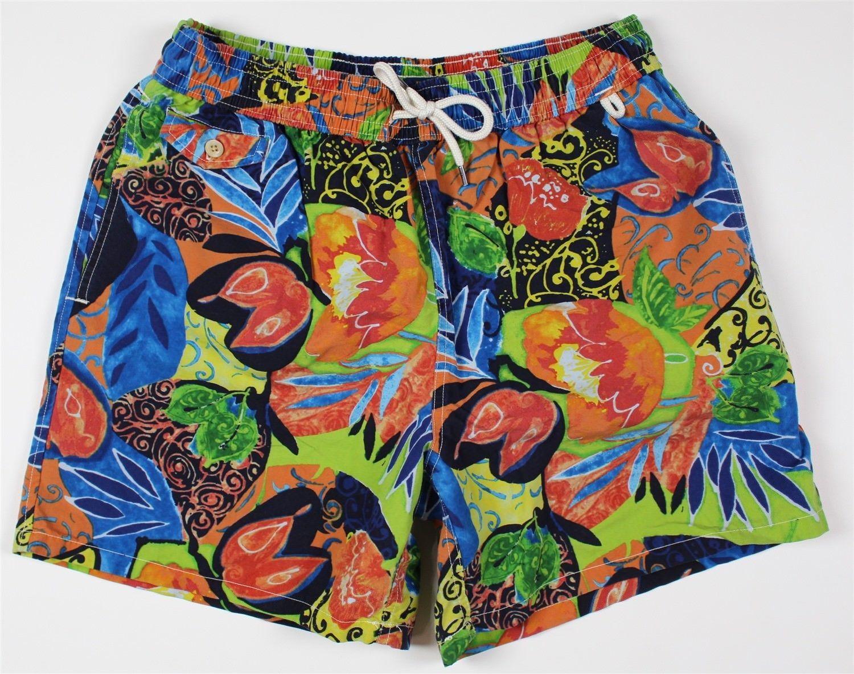 45b7b79894 57. 57. Previous. NEW Polo Ralph Lauren Floral Hawaiian Swim Trunks MENS LARGE  Orange Blue
