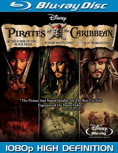 Disney Pirates of the Caribbean Trilogy 1-3 Blu-ray
