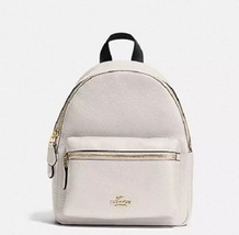 Coach Mini Charlie Backpack Pebbled Leather F38263 Chalk NWT $295 - $149.99