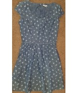Old Navy denim chambray floral dress women's size 8 - $27.87