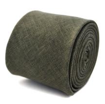 Frederick Thomas 100% lino verde cachi COLORATI TESTURIZZATO SLIM