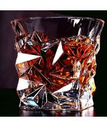 Whiskey Glass Tumbler, Cocktail Cup Old Fashioned Glass 275ml Bourbon Sc... - $15.00+