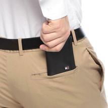Tommy Hilfiger Men's Leather Credit Card Wallet Slim Trifold Black 31TL11X018 image 4