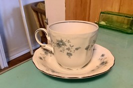 Vtg Johann Haviland Blue Garland Bavaria Germany China Coffee Cup & Saucer - $9.99