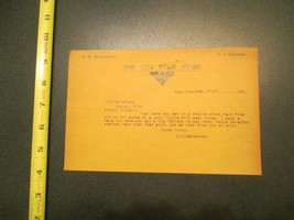 Elgin Iowa The City Drug Story 1915 IA Letterhead 895 - $10.99