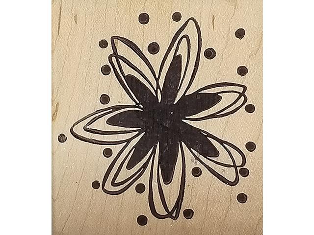 Magenta Flower Rubber Stamp #23605J
