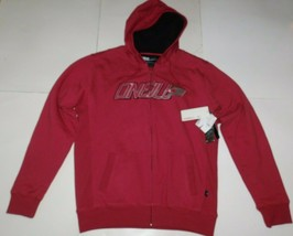 O'Neill Red Super Fleece Zip Front Hoodie Size Large BNWT - $39.99