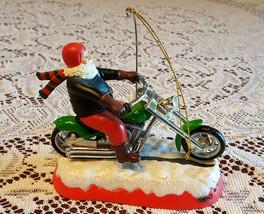 "Harley Davidson Santa Claus Christmas Ornament Plays ""Let it Ride"" RARE! - $34.15"