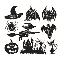 Halloween Series Witch Wall Sticker Removable Home Display Showcases Decorative  - $20.00