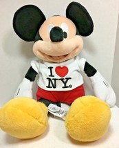 "Disney New York Mickey Mouse Plush 14"" tall Disney Stuffed Animal  - $18.99"