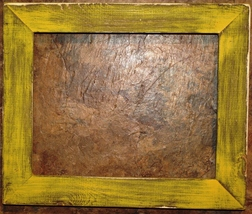 """F001-04 1-1/2"""" Yellow Distressed Picture Frame - $26.00+"""