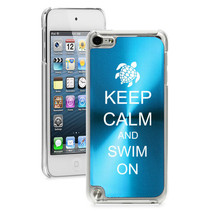 For Apple iPod Touch 4th 5th 6th Hard Case Cover Keep Calm Swim On Turtle - $12.99