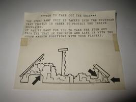 1989 Aurora Devil's Ditch Slot Car Playset piece: Instruction Sheet #2 - $1.00