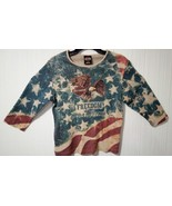 Harley Davidson Of Rehoboth Beach Delaware XL US Flag Womens embellished... - $18.53