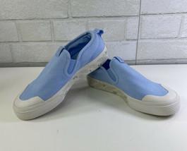 New Adidas Nizza Glow Blue / Crystal White Slip On Sneakers - Womens Sz 6 - $34.95