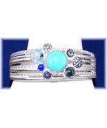 Judith Ripka 5.90ct. Multi-Gems Cluster Cuff Bracelet Silver Average  QV... - $344.00