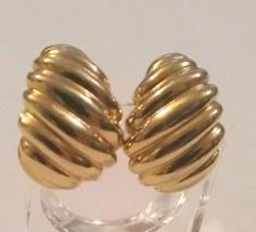 Vintage Monet Gold Shrimp Earrings - $8.91