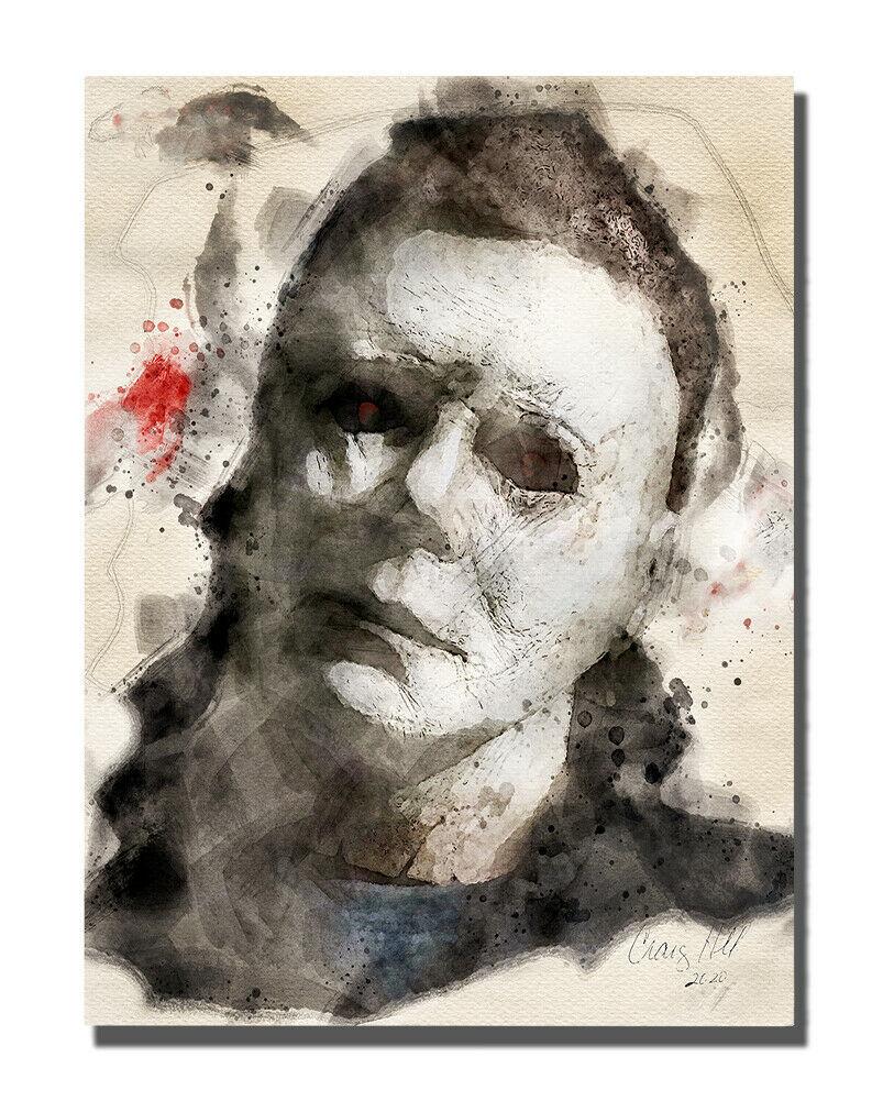 Halloween Michael Monster Monster Poster Design 16x20 Aluminum Wall Art - $59.35