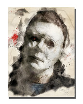 Halloween Michael Monster Monster Poster Design 16x20 Aluminum Wall Art - $59.35