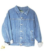 VTG J. Crew Outfitters Men's Large L Blue Denim Jean Trucker Motorcycle ... - $39.27