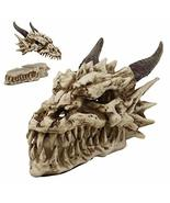 """Ebros Gift 9"""" Long Smoking Nostrils and Eyes Bone Skeleton Fossil Dragon... - €27,79 EUR"""