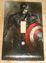 Captain America Light Switch Power Duplex Outlet wall Cover Plate Home Decor