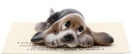 Hagen-Renaker Miniature Ceramic Dog Figurine Basset Hound Pups Sitting and Lying image 9