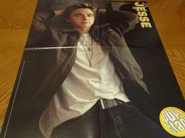 Jesse Mccartney Chris Brown teen magazine poster clipping open jacket Bop - $3.50