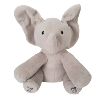 Baby Gund Flappy The Elephant Plush Stuffed Animal Sings Plays Peek A Boo - $24.75