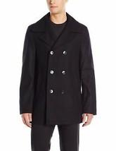 Calvin Klein Men's 7/4 Button Classic Peacoat (Black, Size 42) - $108.89