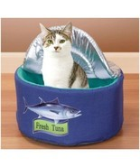 Tuna Can Cat Bed, w/Lid ~ Soft Cuddly & Cute Kitty Playhouse ~ Bandwagon... - €13,14 EUR