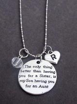 Personalized Aunt Necklace, Aunt Gift Jewelry, Aunt Keepsake Gift, Gift for Aunt - $17.19